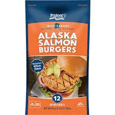 Lay salmon fillets out flat and cut a pocket into the side of each fillet. Trident Seafoods Alaska Salmon Burgers 3 Lb Trident Seafoods
