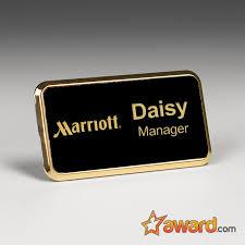 Engraved Metal Name Badge 3 X 1 5 Inch Accolade Designs