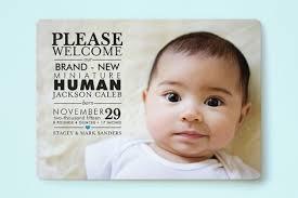 Mini Human Birth Announcements By Geekink Design New Born Baby