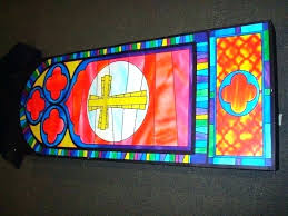 fake stained glass faux panels kits plaid supplies window home depot do it yourself craft stained glass ideas fake