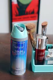 Valspar Turquoise Spray Paint Spray Paint Anything Turquoise Makeup Caddy A Simpler Design A