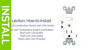 leviton presents how to install an electrical wall outlet youtube how to wire multiple outlets and lights on same circuit at Ac Outlet Wiring Diagram