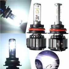 Low Beam Light Bulb Pair 9007 80w 8000lm 6000k Led Xenon White High Low Beam Light Bulbs Car Headlight