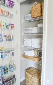 Organized Bathroom Linen Closet Anyone Can Have