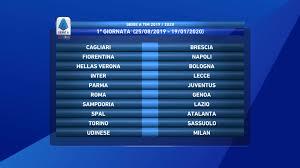 Serie A 1a giornata: risultati e classifica - ForzaRoma