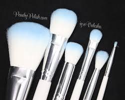crown brush hd cosmetic brush set review peachy polish