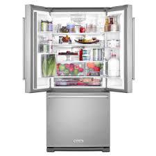 kitchenaid 30 20 cu ft french door refrigerator with interior water dispenser