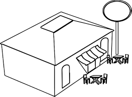 Restaurant Coloring Page Nice Restaurant Building Coloring Page Coloring Pages