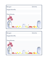 Free Printable Mason Jar Recipe Cards The Cottage Market