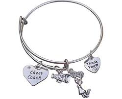 infinity collection cheer coach bracelet cheerleading coach bracelet bangle bracelet cheer jewelry