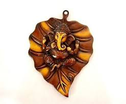 Small Picture Leaf Wall Hanging Hindu God Ganesh Wall Sculpture Art Home