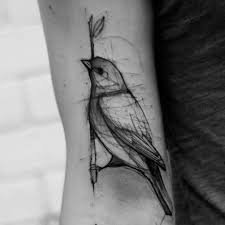 Sketch Tattoo By Kamil Mokot
