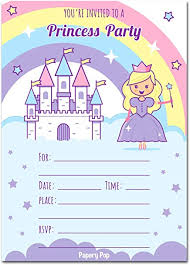 kids birthday party invitations 30 princess birthday invitations with envelopes 30 pack kids birthday party invitations for girls