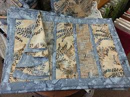 118 best quilt as you go placemats images on Pinterest | Sew ... & Bay Window Quilt as You Go Placemats using Hoffman batik fabrics Adamdwight.com