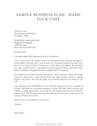 Crafting A Cover Letter 4 Brilliant Restaurant Business Plan Cover Letter Sample Solutions