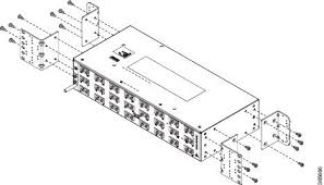 cisco ncs 4206 hardware installation guide installing the cisco figure 30 patch panel rear view brackets