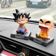 <b>2pcs</b>/<b>lot Anime</b> Nodding Doll <b>Dragon</b> Ball Z Kuririn Son Goku Action ...
