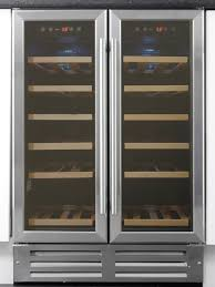 art built in stainless steel dual zone wine cooler  myappliances