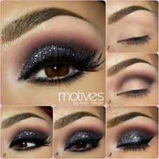 step by step eye make up tutorial for a sparkling smokey eye if you would like to do a smokey eye with a twist layer some glitter on top of the black