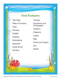 Nonfiction Text Features Anchor Chart Printable Nonfiction Text Features Free Printable Posters For