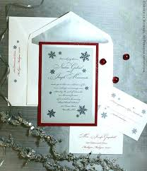 Beautiful Snowflake Themed Wedding Invitations For Elegant