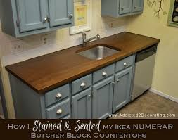 how i stained sealed my butcher block countertops