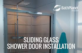 instructions on how to install a sliding glass shower door
