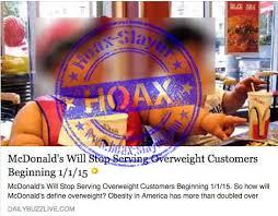 fake news mcdonald s will stop serving overweight customers mcdonalds