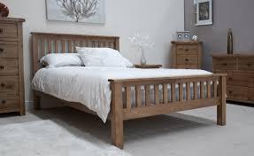 Oak And White Bedroom Furniture Rustic Solid Oak 4 6 Double Bed Oak Furniture Uk