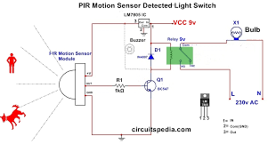 motion sensor diagram wiring diagram site automatic room light on circuit using pir motion sensor pir motion motion sensor wiring diagram 100 cw motion sensor diagram