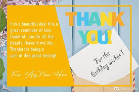 free thank you for birthday wishes with