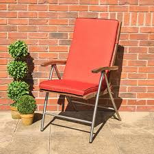 highback outdoor dining recliner chair