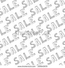 Pattern Sale Magnificent Hand Drawn Sale Seamless Pattern Doodle Stock Vector Royalty Free