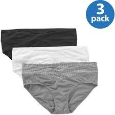 Blissful Benefits No Muffin Top Size Chart Blissful Benefits By Warners Womens No Muffin Top Hipster Panties 3 Pack Style Ru3383w