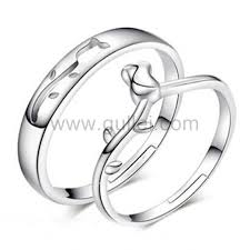 matching silver wedding bands. sterling silver matching flower couples wedding rings set for 2 bands t