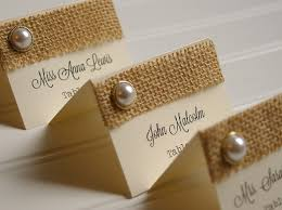 kraft paper place cards table numbers rustic wedding Wedding Escort Cards And Table Numbers burlap and pearl place cards table numbers rustic wedding wedding table decor DIY Wedding Table Cards