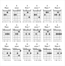 Charts Templates Best Guitar Chord Chart Templates 48 Free Word PDF Documents Download