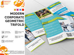 Shocky Design Studio Modern Corporate Geometric Trifold