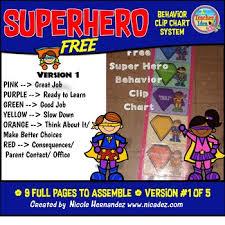 Behaviour Clip Chart Behavior Clip Charts Superhero Theme Version 1 Free