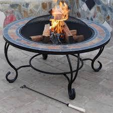 villa beacon natural slate coffee table fire pit access