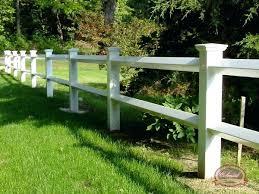 white fence post. White Split Rail Fence Vinyl Post Cost