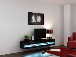 Tv Cabinets For Living Room High Gloss Living Room Set With Led Lights Tv Stand Wall