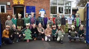 Children dress up as trees to spread their message - Henley Standard