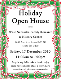 christmas open house flyer dec annual holiday open house west nebraska family research