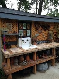 outdoor potting bench furniture the decorated house garden in benches for decorating from with storage
