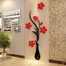 decor vase home room decor d plum flower vase flower tree arcylic wall stickers a