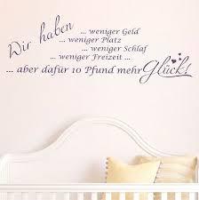 Wandtattoo 10pfund Mehr Glück Sprüche Baby Kinderzimmer Wandtatoo