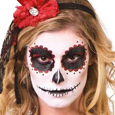 horror scary day of the dead sugar skull face make up paint kit 9 pcs