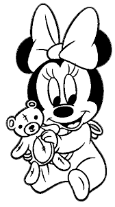 Small Picture Baby Minnie Teddy Bear Coloring Page Wecoloringpage Coloring Home