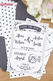 Print Save The Date Cards Rustic Wedding Save The Date Cards Press Print Party